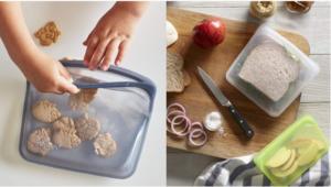 可以重复使用的装食物的塑料袋