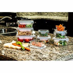 亚马逊AMAZON不同大小装各种食物的玻璃饭盒