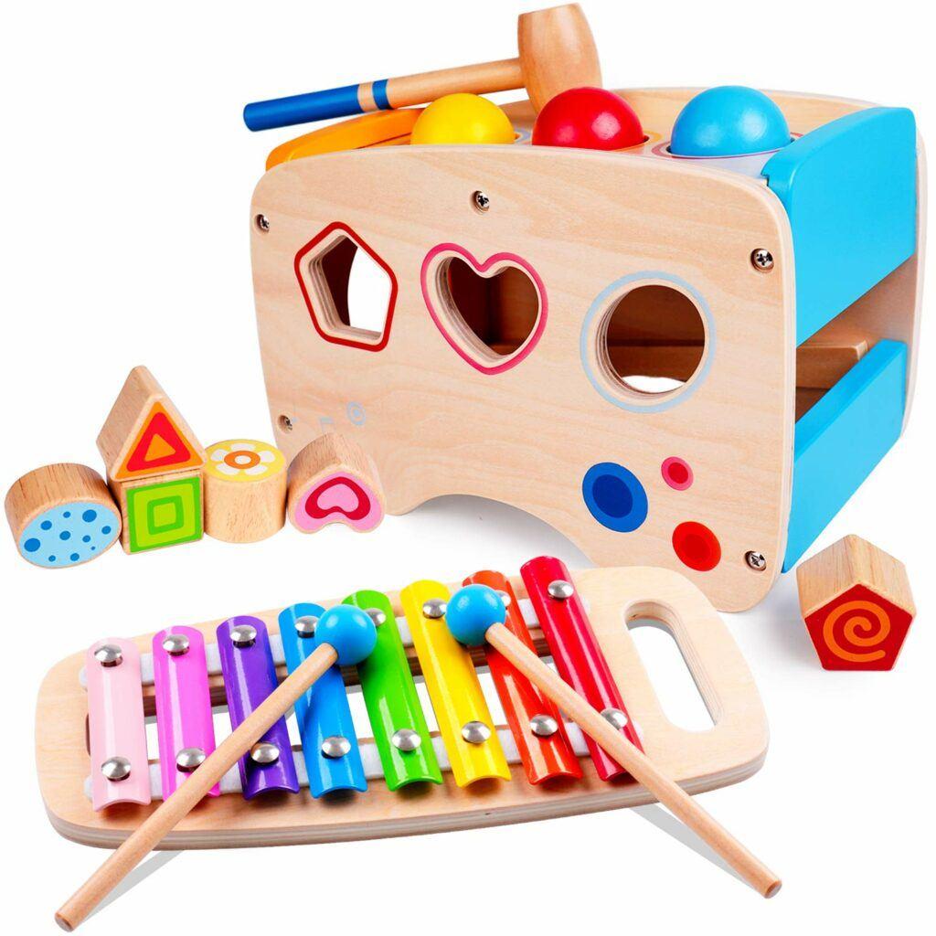 能让小孩弹奏音乐的木琴玩具