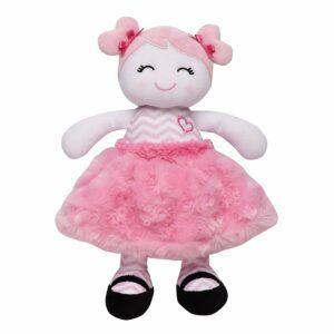 1岁小女孩很喜欢的毛绒玩具 Baby Starter Plush Snuggle Buddy Baby Doll, Sugar N Spice Marisa