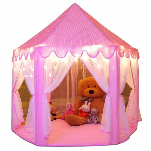 粉色公主城堡  Monobeach Princess Tent Girls Large Playhouse Kids Castle Play Tent With Star Light