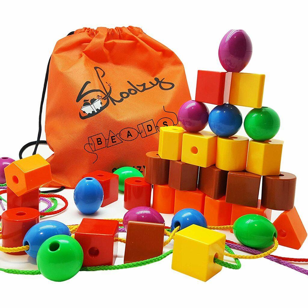 17. 教小孩子做手工的玩具 Skoolzy Lacing Beads