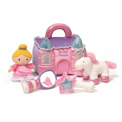 2. 粉色梦幻公主城堡小女孩玩具 Baby GUND Princess Castle Stuffed Plush Playset