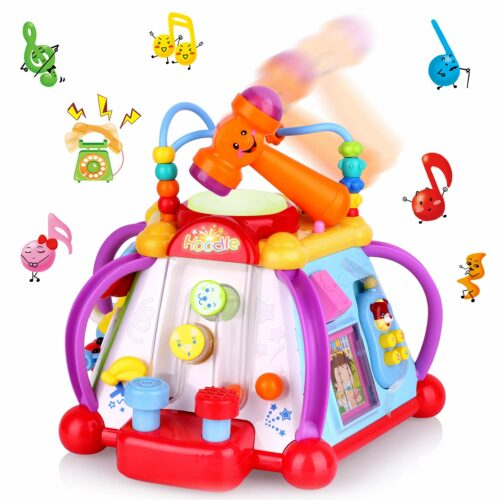 4. 多功能集教育和娱乐为一体的玩具 AOKESI Educational Baby Sit Up Toys Musical Activity Cube Play Center