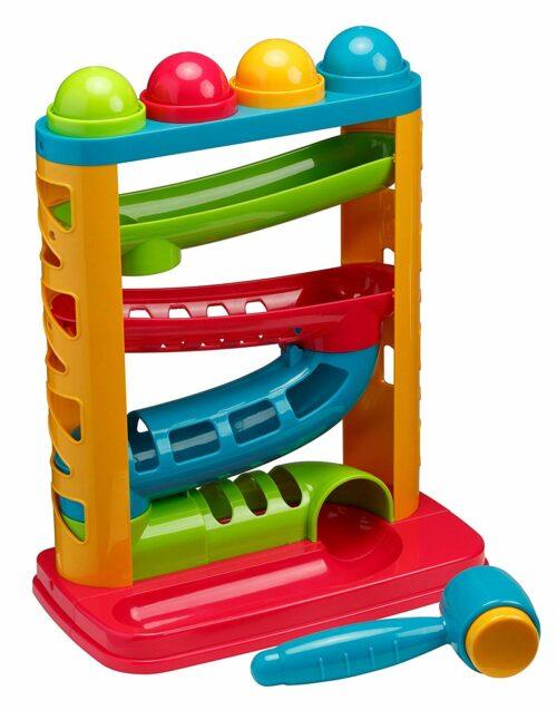 9. 锻炼小孩动手能力的击球游戏 PlayKidz Pound A Ball