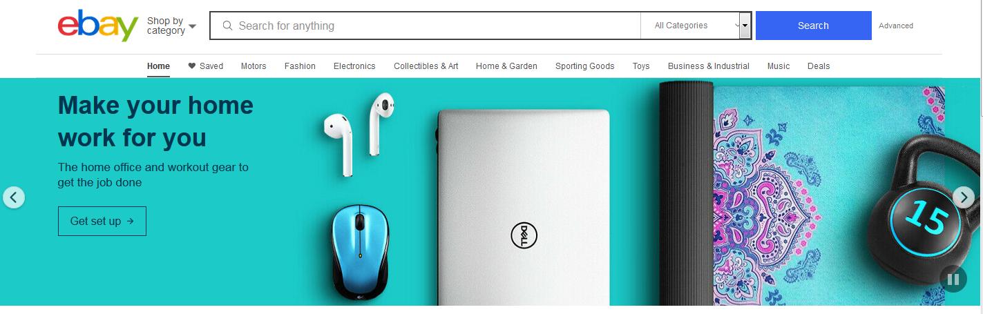 美国最受欢迎的10个网上购物网站之一 Ebay