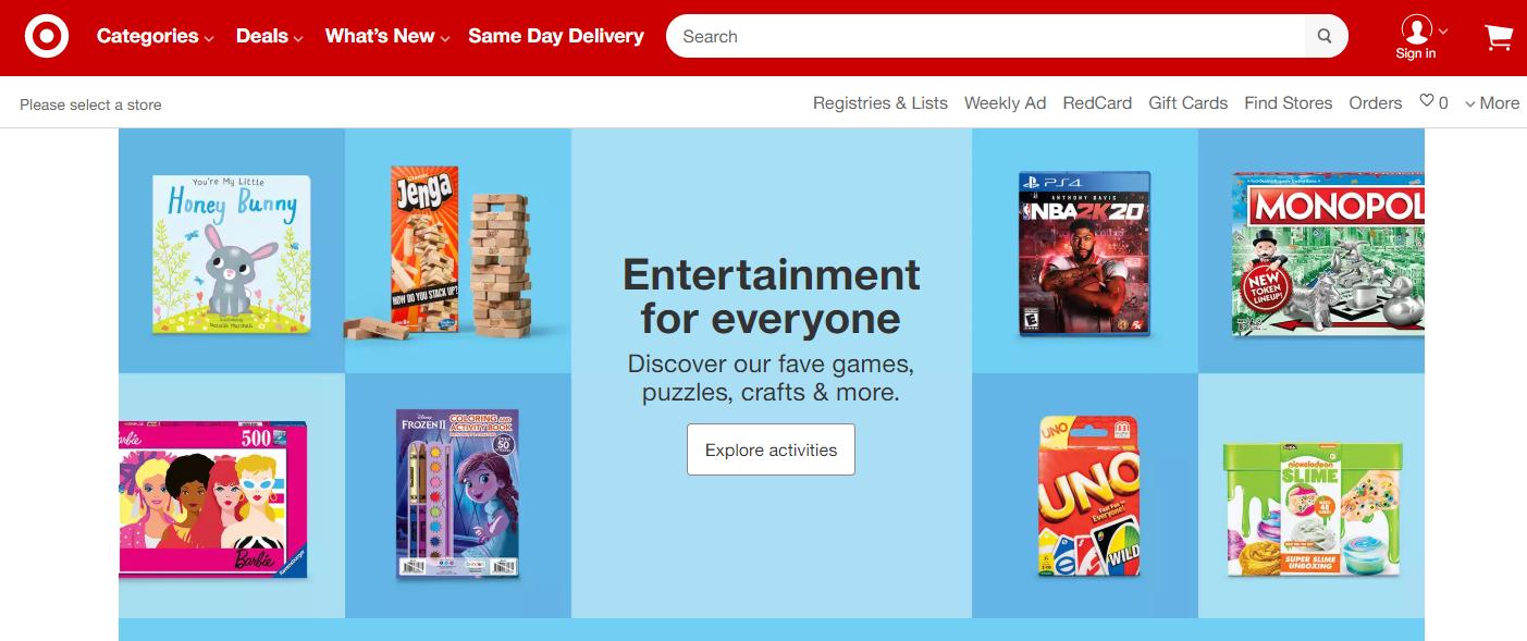 Target.com 美国最受欢迎的10个网上购物网站之一