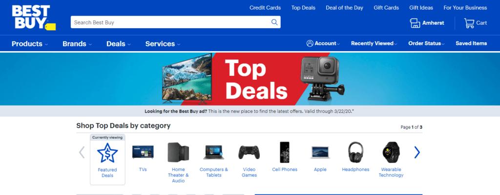 美国最受欢迎的10个网上购物网站之一 BESTBUY.com