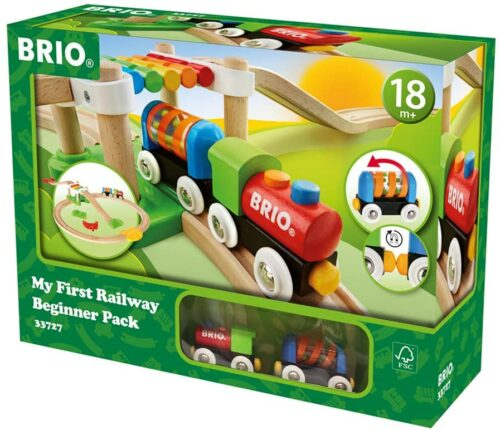 木头小火车玩具 BRIO My First Railway Beginner Pack