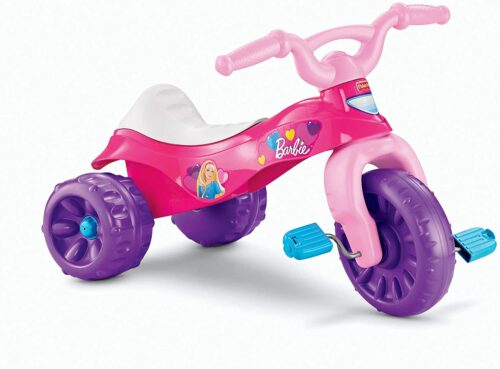 2岁小女孩玩具 儿童三轮车玩具 Fisher-Price Barbie Tough Trike