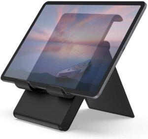 """美国最好用的iPad支架推荐【TOP6】Lamicall Adjustable Tablet Stand Holder - Foldable Desktop Stand Charging Dock for Desk Compatible with iPad Air Mini Pro 9.7,12.9, Phone 11 XS Max XR X Plus Samsung S10 S9 S8 Smartphones(4-13"""")"""