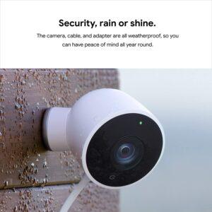 整体最好的安全摄像头 Google Nest Cam Outdoor (户外使用)
