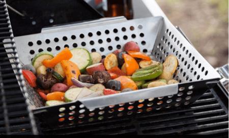 烧烤用的不锈钢烤篮 Grillaholics Heavy Duty Grill Basket