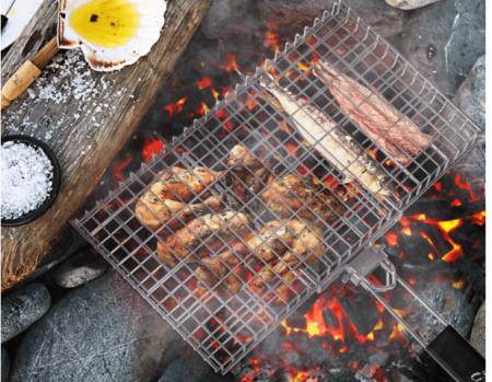 专门用来烤肉用的烤蓝 WolfWise Large Grilling Basket