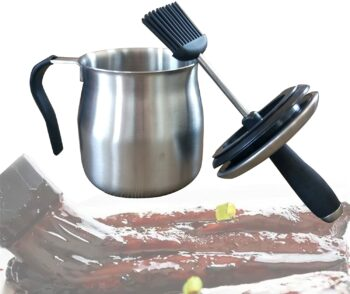 BBQ Basting Pot with Basting Brush