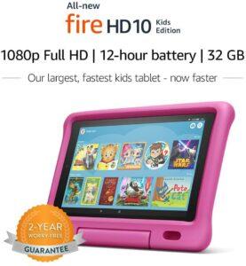 屏幕最大的一款平板电脑:Amazon Fire HD 10儿童版平板电脑