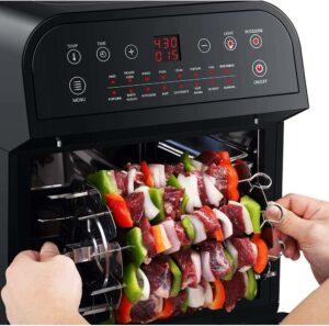 最适合烤串的一款空气炸锅:GoWISE USA 12.7-Quart 15-in-1 Electric Air Fryer Oven