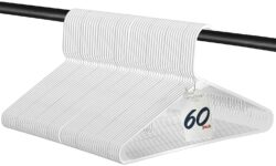 Standard Everyday White Plastic Hanger 60 Pack