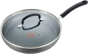 T-fal 不粘锅 T-fal Dishwasher Safe Cookware Fry Pan with Lid