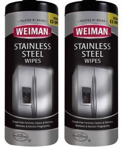 不锈钢清洁剂 Weiman Stainless Steel Cleaner Wipes (2 Pack)