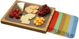 具有多种功能的切菜板 Lipper Bamboo Wood Cutting Board