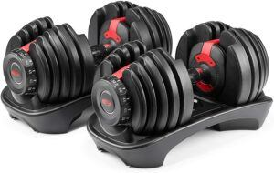 可以调节不同重量的哑铃  Bowflex SelectTech 552 - Two Adjustable Dumbbells