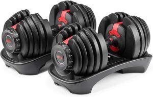 可以调节不同重量的哑铃 Bowflex SelectTech 552 - Two Adjustable Dumbbells