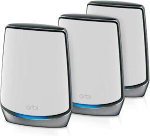 最佳网状WIFI6路由器 NETGEAR Orbi Whole Home Tri-band Mesh Wi-Fi 6 System