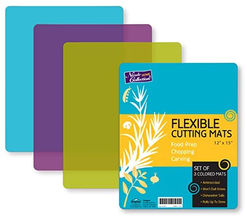 由塑料制成柔韧性很高的一款切菜板 Flexible Plastic Cutting Board Mats set