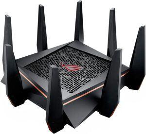 适合大房间里玩游戏的 WiFi6 路由器:ASUS ROG Rapture GT-AX11000