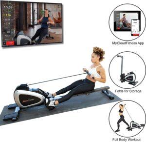划船机 Rower Rowing Machine with Full Body Exercises and Free App