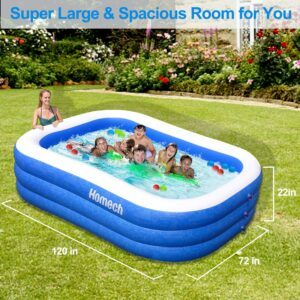 亚马逊上最畅销的一款充气游泳池 Homech Family Inflatable Swimming Pool