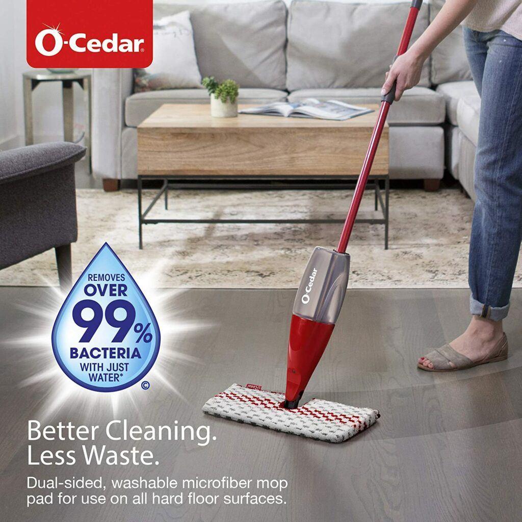 可以拆卸清洗的喷水拖把 O-Cedar ProMist MAX Microfiber Spray Mop