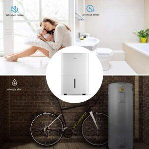 室内覆盖面积很大的一款除湿器 MIDEA Dehumidifier with Reusable Air Filter