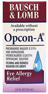 最适合缓解眼睛过敏的眼药水 Bausch & Lomb Opcon-A Reliever Eye Drops