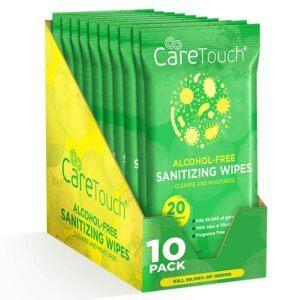 清洁手掌用的杀菌湿巾 Care Touch Alcohol-Free Hand Sanitizing Wipes