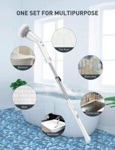 清洁浴缸,瓷砖和地板用的无线电动刷 Homitt Electric Spin Scrubber Cordless Shower Scrubber