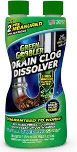 疏通马桶下面下水道的溶解液 Green Gobbler Drain Clog Dissolver
