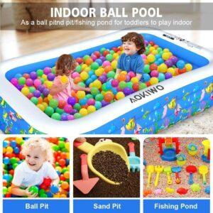 适合全家一起使用的一款充气游泳池 AOKIWO Family Swimming Pool