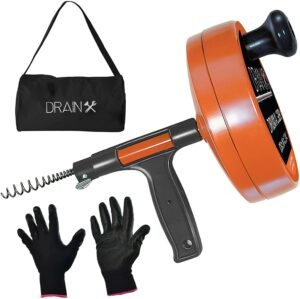 浴室管道清理器 Drainx Pro Steel Drum Auger Plumbing Snake