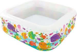 外观很可爱的一款充气游泳池 Intex Swim Center Clearview Aquarium Inflatable Pool