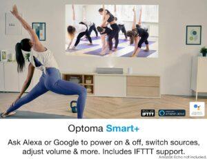 家用投影仪推荐Optoma CinemaX P2 Ultra Short Throw 4K UHD Laser Projector for Home Theater