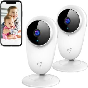 Victure 2pcs WiFi Video Baby Monitor