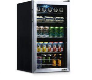 最适合装啤酒的迷你小冰箱 NewAir NBC126SS02 Beverage Refrigerator and Cooler