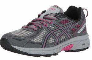 最适合足底筋膜炎女士专用的越野跑鞋 ASICS Women's Gel-Venture 6 Running-Shoes