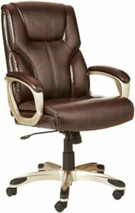 美国办公室座椅AmazonBasics High-Back Leather Executive Adjustable Office Desk Chair