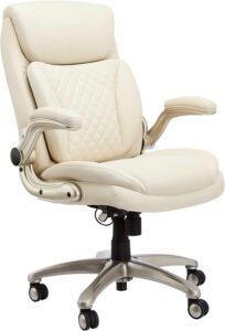 美国办公室座椅AmazonCommercial Ergonomic High-Back Rhombus-Stitched Leather Executive Chair
