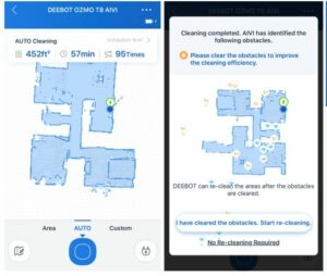 Ecovacs Deebot Ozmo T8 AIVI Robot Vacuum APP cleaning map picture