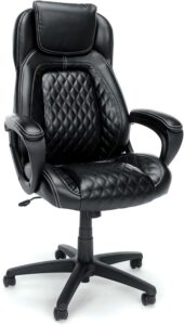 OFM Essentials Collection Racing Style SofThread Leather High Back Office Chair