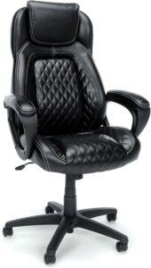 美国办公室座椅OFM Essentials Collection Racing Style SofThread Leather High Back Office Chair